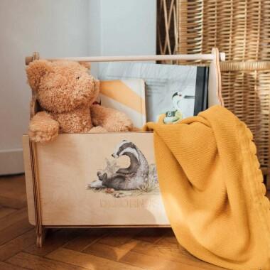 Koszyk-organizer,pojemnik na zabawki do pokoju dziecka Cute forest animals Borsuk