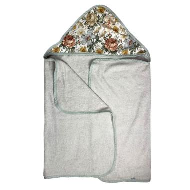 Duży, przyjazny dziecku ręcznik z kapturem. Wykonany z najwyższej jakości przędzy posiada wysoką wodochłonność.