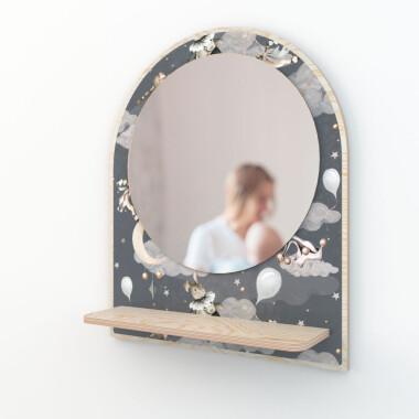 Bezpieczne lustro do pokoju dziecka-zwierzątka