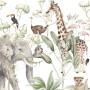 Tapeta savanna w zwierzęta Afryki