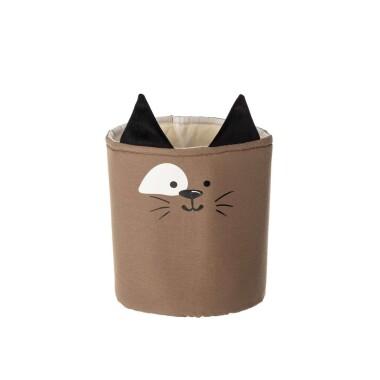 Kosz na zabawki w kształcie zwierzątka do pokoju dziecka, Kosz na zabawki kotek.