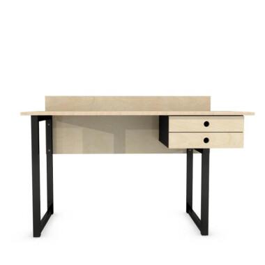 Biurko do pokoju dziecięcego lub do biura, gabinetu wykonane ze sklejki. Blat i szuflady kolor drewno naturalne.