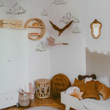 Naklejki ścienne tapeta w chmurki na ścianę