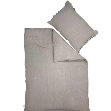 Pościel Lniany Zakątek – poszewka na kołdrę i poduszkę Toupe