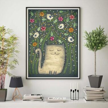 Kotek zielony