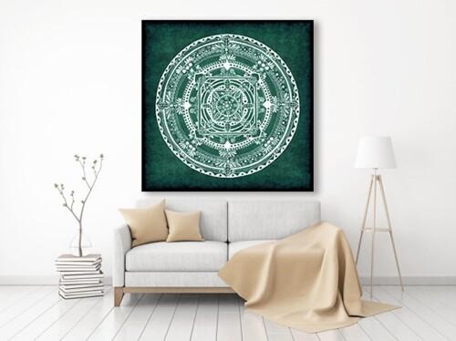 Mandala butelkowa ziele