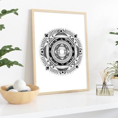 Mandala czarna 4