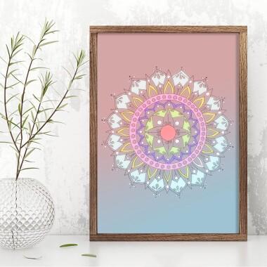 Mandala kwiatowa gradient