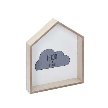 Drewniana  okrągła półka do pokoju dziecięcego w kształcie domku - Półka Cloud At Home