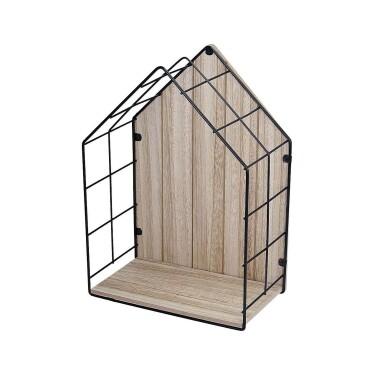 Drewniana półka do pokoju dziecięcego w kształcie domku - Półka Scandi Home 34cm