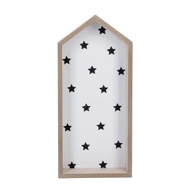 Drewniana półka do pokoju dziecięcego w kształcie domku - Półka Stars At Home