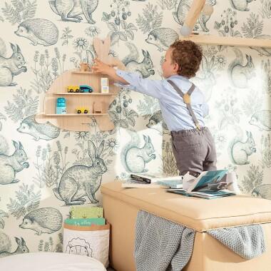 Drewniana półka do pokoju dziecięcego w kształcie króliczka - Półka Wooden Rabbit