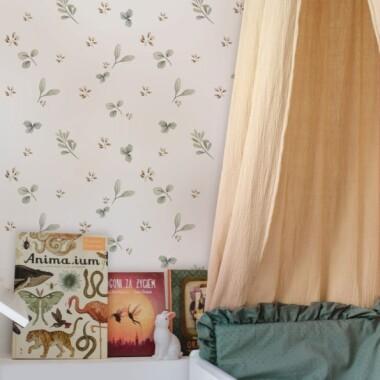Tapeta na ścianę do pokoju dziecka listki