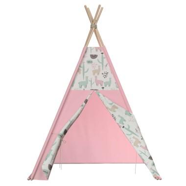 Tipi - teepee - namiot dla dzieci , najlepsze miejsce do zabawy w pokoju dziecięcym. Kolor różowy