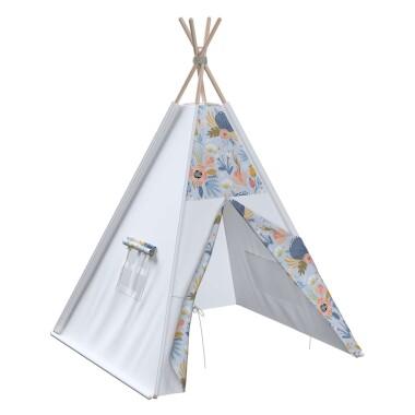 Tipi - teepee - namiot dla dzieci , najlepsze miejsce do zabawy w pokoju dziecięcym. Kolor biały.