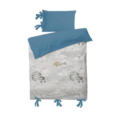 Cudna Pościel Magiczne Samoloty-niebieska pościel dla chłopca