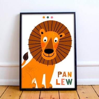 Plakat do pokoju dziecka -lew/ lion