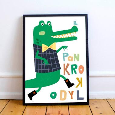 Plakat do pokoju dziecka .-krokodyl