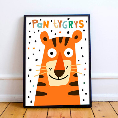Plakat do pokoju dziecka -tygrys/ tiger2