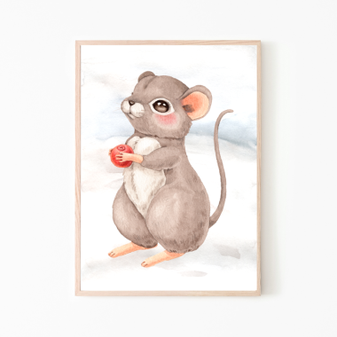Myszka -plakat obrazek do pokoju dziecka
