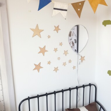 Gwiazdki drewniane na ścianę