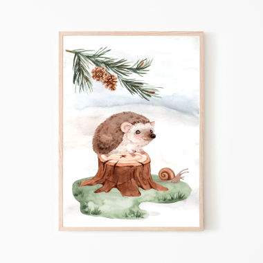Jeżyk-plakat obrazek do pokoju dziecka