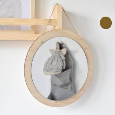 Okrągłe lustro do pokoju dzieci