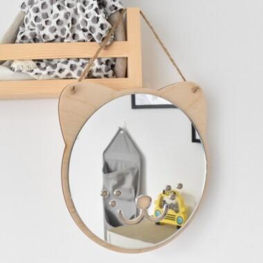Lustro bezpieczne akrylowe do pokoju dziecka Miś