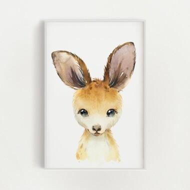 kangur-akwarela-plakat-dekoracyjny
