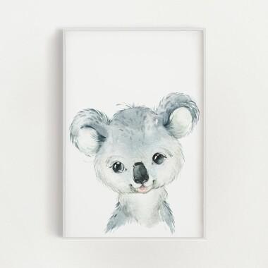 koala-akwarela-plakat-dekoracyjny