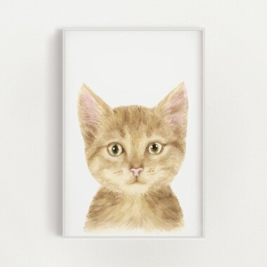 kotek-akwarela-plakat-dekoracyjny