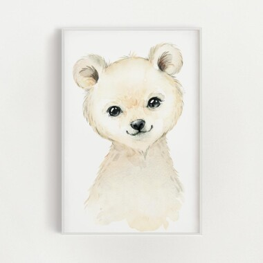 niedzwiadek-polarny-akwarela-plakat-dekoracyjny