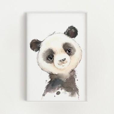 panda-akwarela-plakat-dekoracyjny