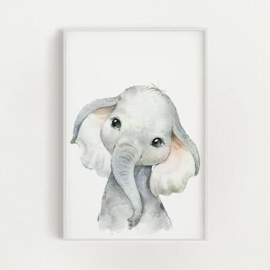 sloniatko-akwarela-plakat-dekoracyjny