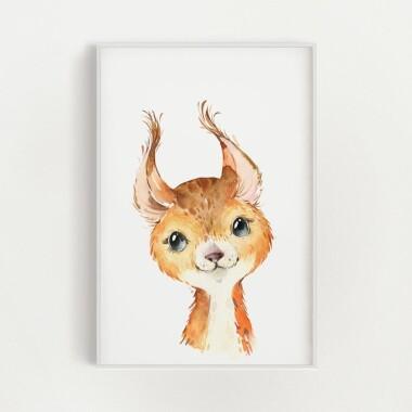 wiewiorka-akwarela-plakat-dekoracyjny