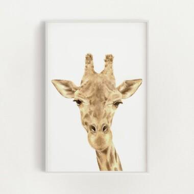 zyrafa-akwarela-plakat-dekoracyjny