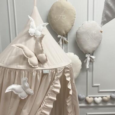 motyl- ozdoba, dekoracja do pokoju dziecka, niemowlaka-prezent dla dziewczynki, prezent na baby shower