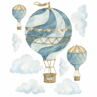 retro-balony--naklejki-na-sciane-dla-dzieci-zestaw-1