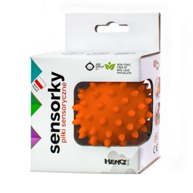 Pomarańczowa - Piłeczka sensoryczna jeżyk 1 szt w pudełku