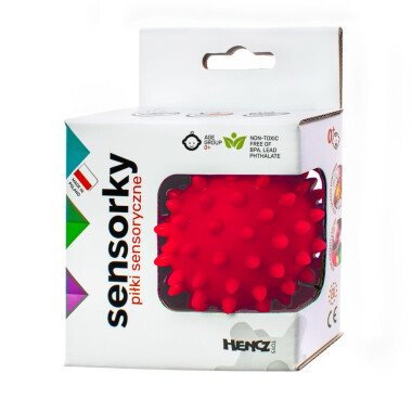 Czerwona - Piłeczka sensoryczna jeżyk 1 szt w pudełku