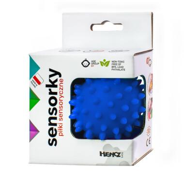 Niebieska - Piłeczka sensoryczna jeżyk 1 szt w pudełku