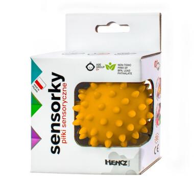 Żółta - Piłeczka sensoryczna jeżyk 1 szt w pudełku
