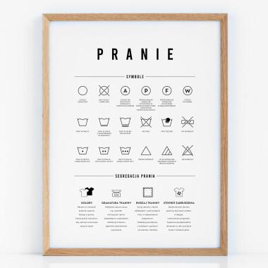 Plakat do pralni-instrukcje prania