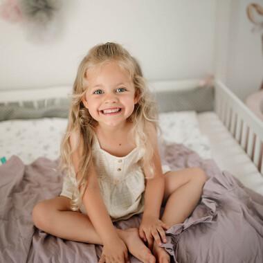 Kołderka obciążeniowa, sensoryczna, terapeutyczna- ciężka kołderka do terapii SI dla dzieci- fioletowa