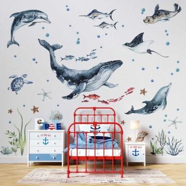 ocean-naklejki-na-sciane-dla-dzieci-wzor-1