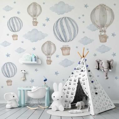 pastelowe-niebieskie-balony-naklejki-na-sciane-dla-dzieci