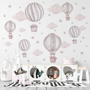 pastelowe-rozowe-balony-naklejki-na-sciane-dla-dzieci