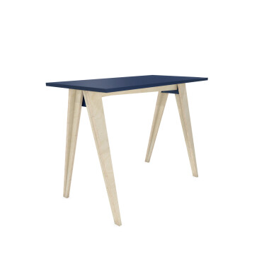 B-PIN1 - minimalistyczne biurko ze sklejki z kolorowym blatem. Tanie biurko.