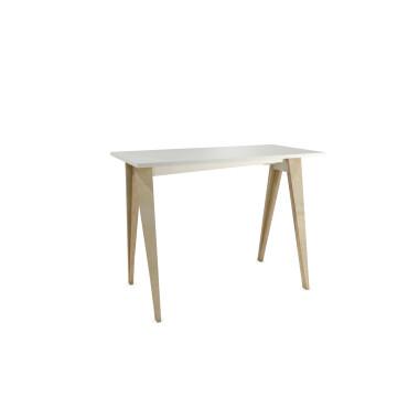 B-PIN1 - minimalistyczne biurko ze sklejki z białym blatem