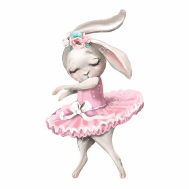 kroliczek-balerina--naklejki-na-sciane-naklejki-scienne